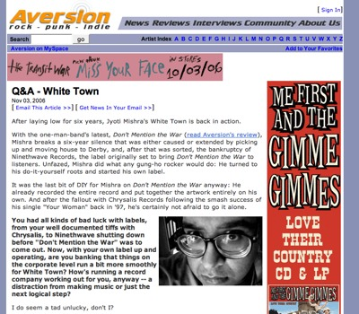 Aversion.com Interview