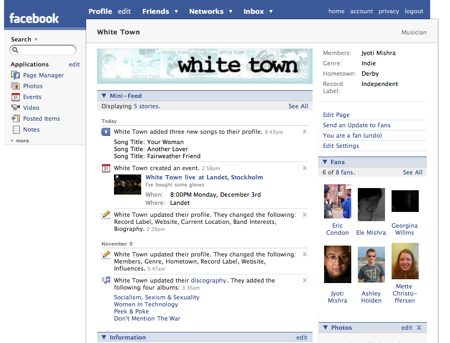 White Town Facebook Page