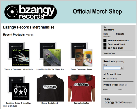 Zazzle Bzangy merchandise